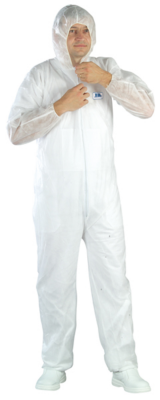 WHITE SPP COVERALL
